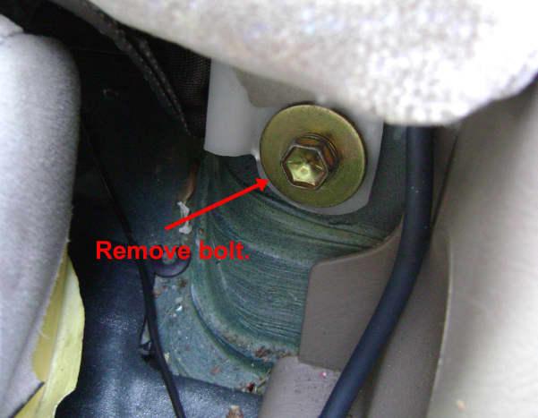 Rear side seatback bolt location