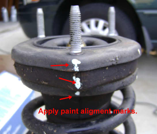 Camry rear upper strut mount