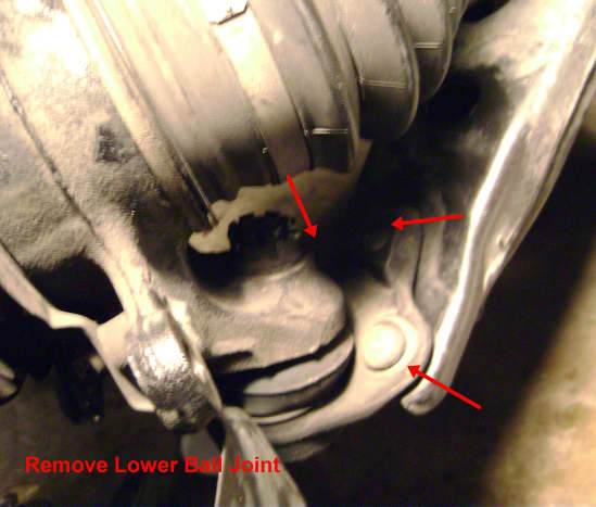 M.  Remove lower ball joint