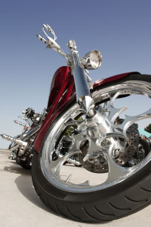 Example of a 'Long' or 'Stretched' Chopper Motorcycle.