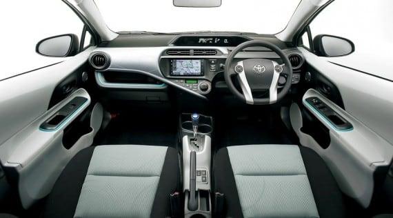 Interior of Toyota Aqua