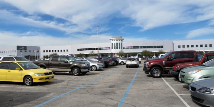 Parking outside NRG Center