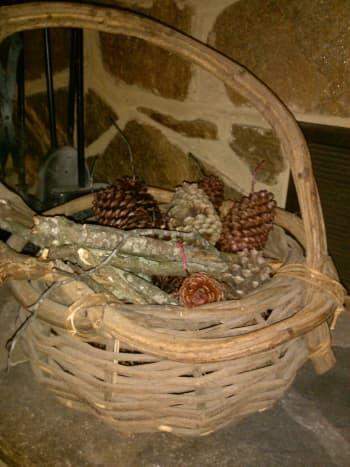 Wax coated pine cones - pine cone firestarters