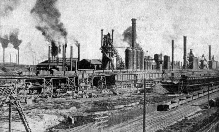 CF & I Steel Mill in the 1930s.