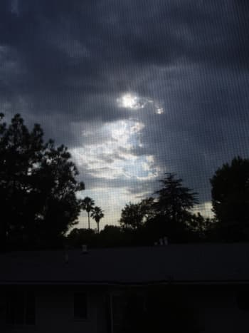 Storm pending in Southern California - you can see it, smell it, feel it coming.