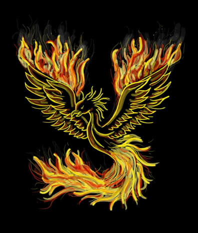 The iconic Phoenix rising from the ashes of the past. Arizona lost 300,000 jobs from 2008 - 2010, but began to gain jobs in 2011.