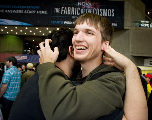 Awkward hugs are better than no hugs.  Go ahead, show an engineer how it's done.