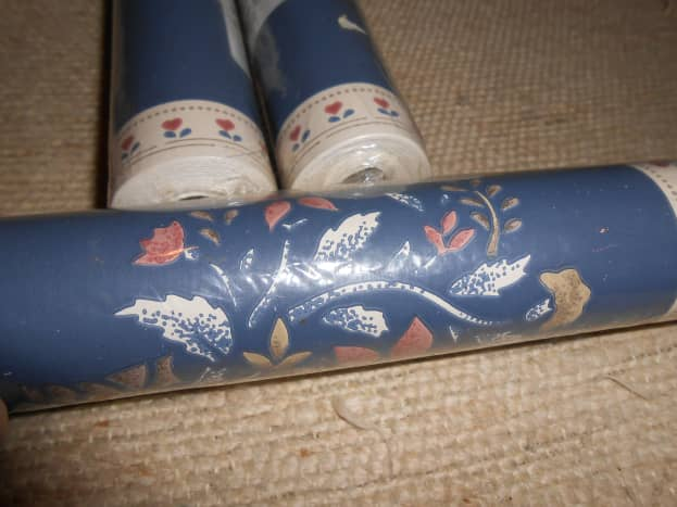Wallpaper border for 25 cents per roll in a local thrift store.