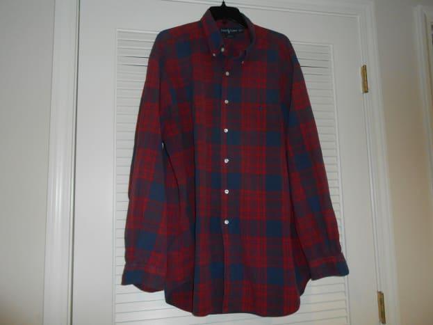 Men's Ralph Lauren shirt bought for $1.75 at a local thrift store.