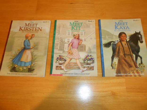 These American Girl books sold for 25 cents each at a local thrift store.