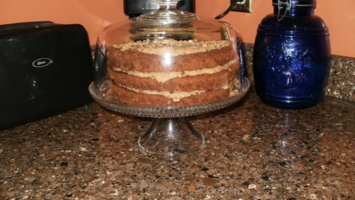 I enjoy baking German Chocolate Cake from scratch.