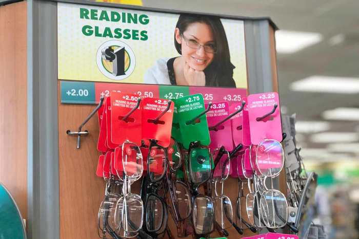 Basic Black and White Reading Glasses Options from Dollar Tree