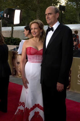 James Taylor and his wife Kim Smedvig at the Metropolitan Opera opening in 2008.