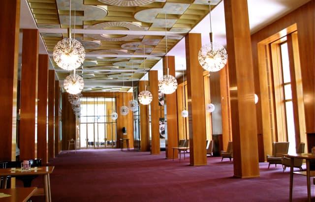 Second level foyer, Leipzig Opera.