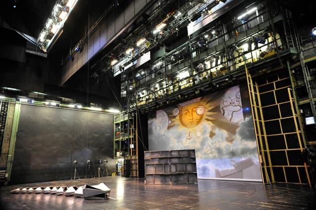 The Leipzig Opera stage.