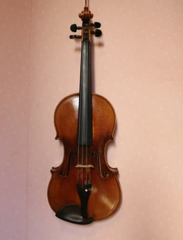 Completed violin repair (front)