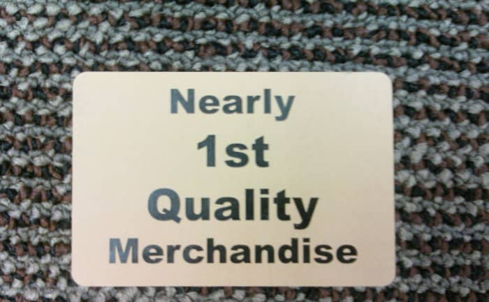 Nearly first quality merchandise.  At least they're honest, right?