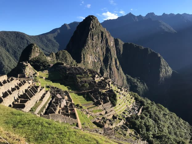 Often called the 8th Wonder of the World, the ruins of centuries-old Machu Picchu rest in the Andes rainforest in Peru.