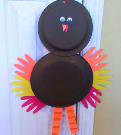 Our finished paper plate turkey!