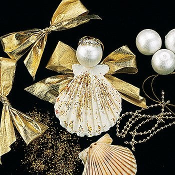 All it takes is some glue, glitter, ribbons and pearl baubles,