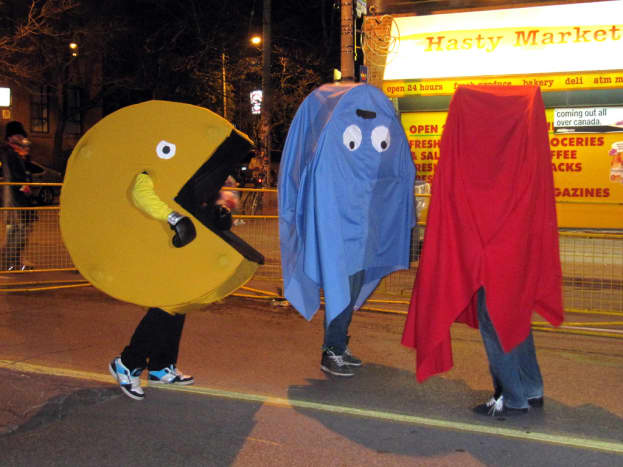 Pac-Man makes a great group costume idea for men or women.