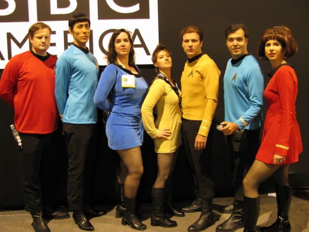 Star Trek makes a great neutral group costume idea.