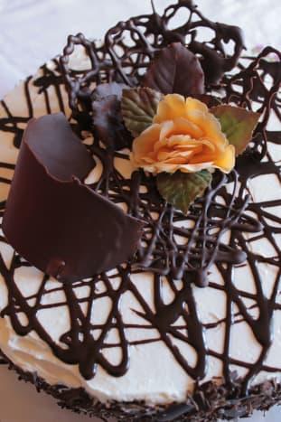 Beautiful chocolate decorations.
