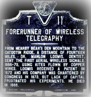 Loomis and His Wireless Telegraph Equipment
