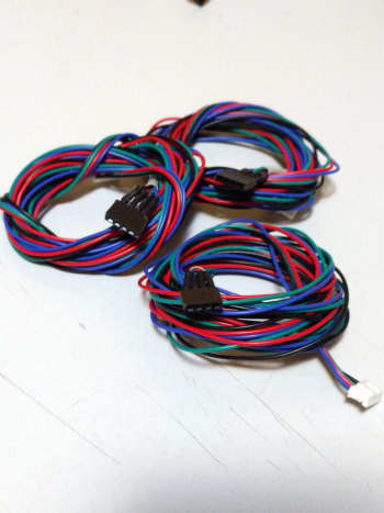 Bought these so-called stepper motor extension cords, only to find out they had no connector at one end. Problem solved.