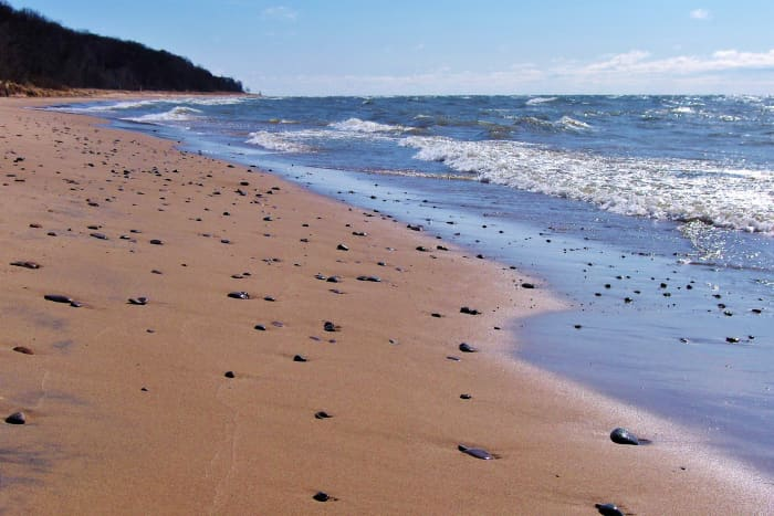 Pier Cove Beach on Lake Michigan