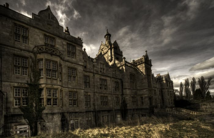 An abandoned mental asylum where unspeakable events occurred.  Here, the screaming never stops, even after the patients are buried and gone.