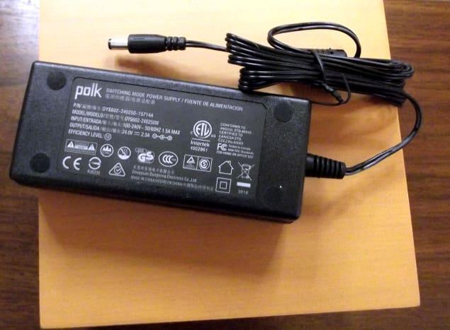 AC adapter for soundbar
