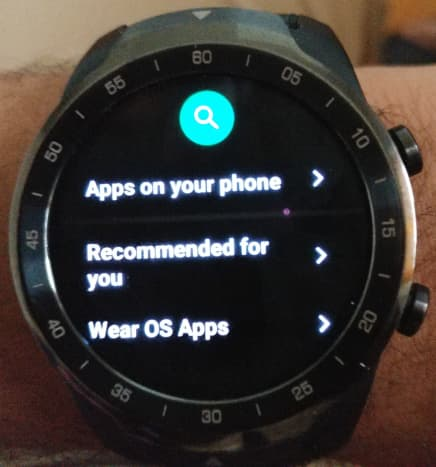 This is the Google Play APP on the TicWatch Pro.