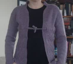 The same sweater, after blocking