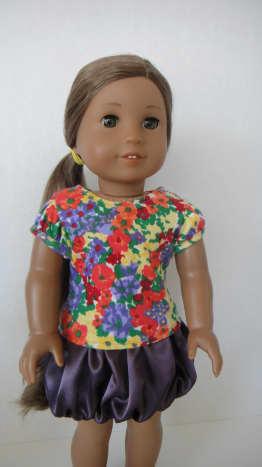 Bubble Skirt Using Satin Fabric