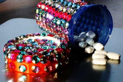 Look for self-adhesive pearls and rhinestones to avoid glue work.
