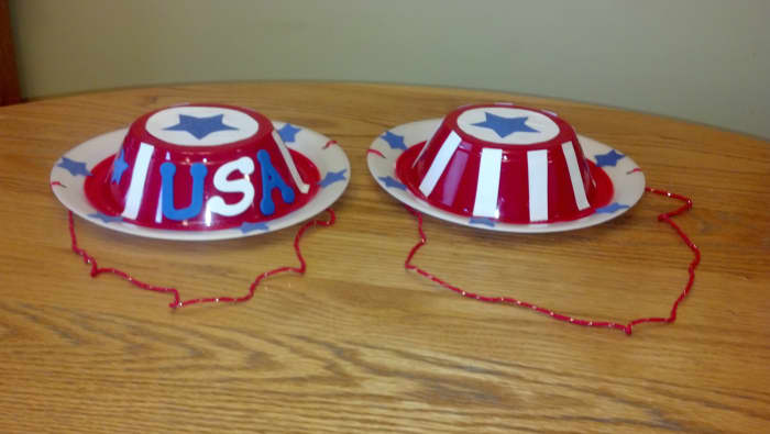 Our finished patriotic hat craft.