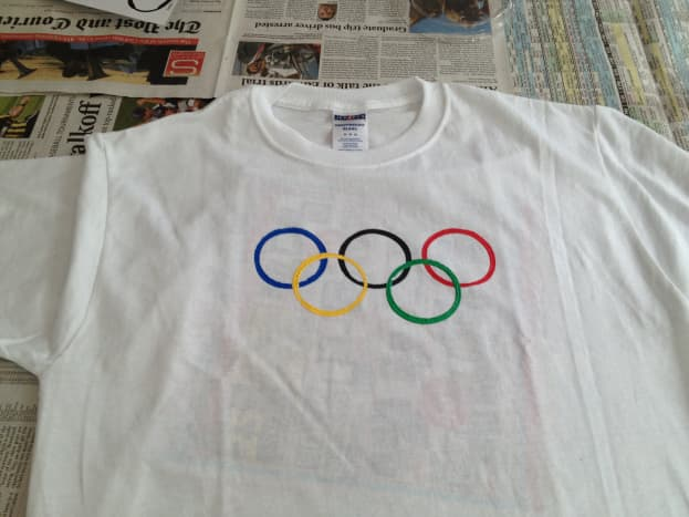 Kids will love to make their own Olympic t-shirt!