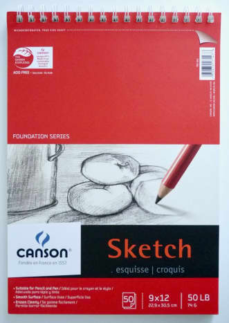 As a new oil painter, a blank canvas can be intimidating. A sketch pad is a good way to do a 'rough draft' of your painting before you work with your paints on the canvas.
