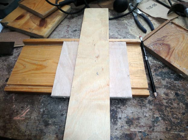 Jig made for routing the runner slots