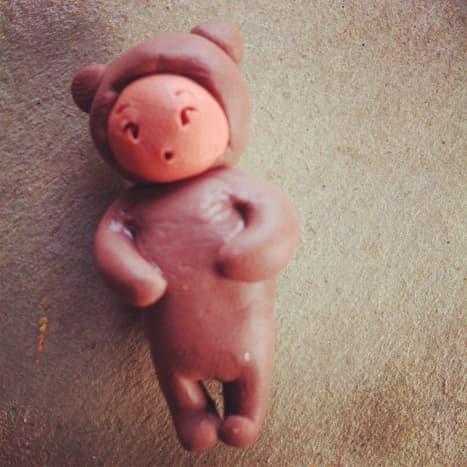Polymer Clay Teddy Bear Baby Charm
