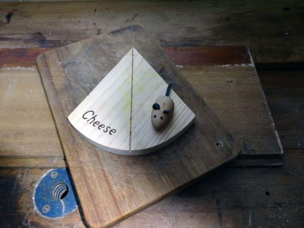 Original wedged shape cheeseboard