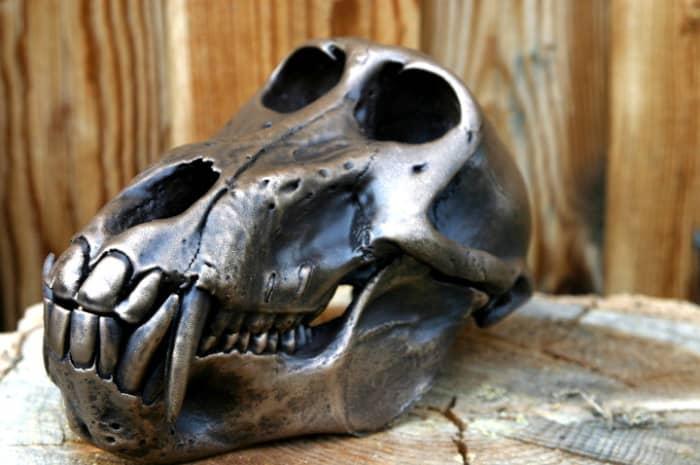 Metalized skull