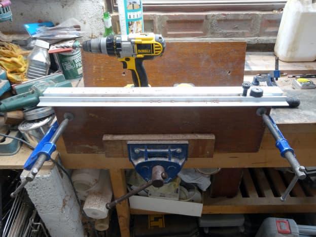 Repurposing an old doorstep to make a teak table top