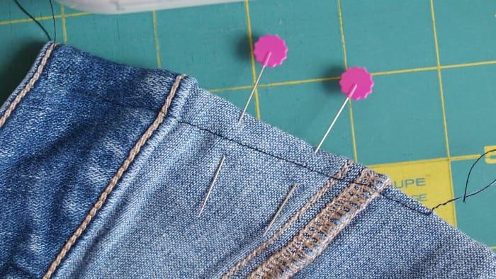The sewn dart.