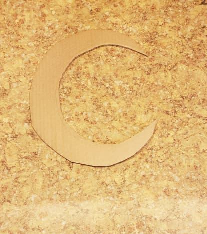 Cut out your crescent moon shape.