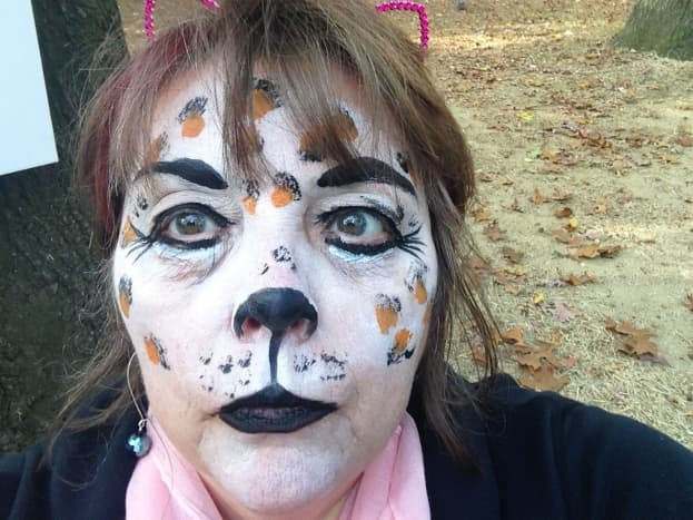This is a face I painted on myself for an outside event.