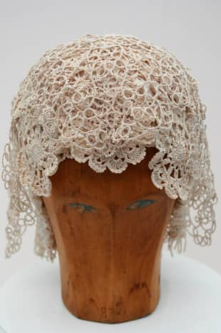 Experiment with the lace placement before you pick up the glue gun!