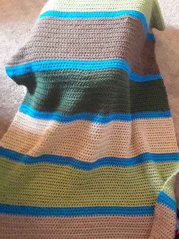 Here's another look at the completed blanket.