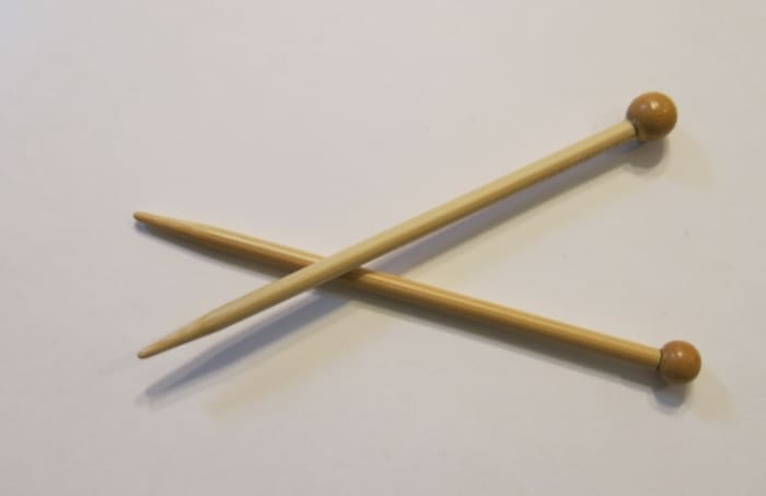 Small Knitting Needles for Christmas Decoration
